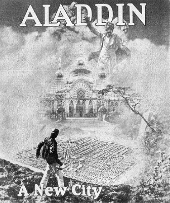 Cover of the sales brochure for Aladdin City