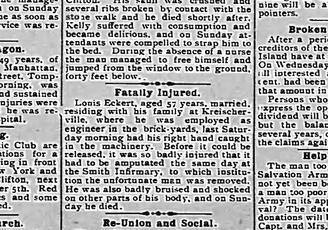 Fatal Factory Accident Oct 1, 1904